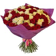 101 red and white rose - flowers and bouquets on roza.pl.ua