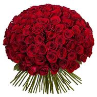 101 red imported rose - flowers and bouquets on roza.pl.ua
