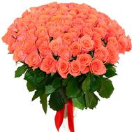 101 orange rose - flowers and bouquets on roza.pl.ua