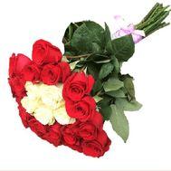 25 импортных роз в оригинальном букете - цветы и букеты на roza.pl.ua