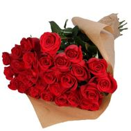 25 red roses - flowers and bouquets on roza.pl.ua