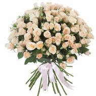 25 creamy bush roses - flowers and bouquets on roza.pl.ua