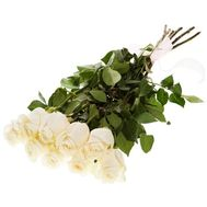 White imported roses in a bouquet - flowers and bouquets on roza.pl.ua
