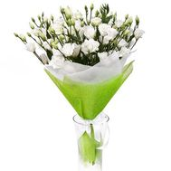 Bouquet of white eust - flowers and bouquets on roza.pl.ua