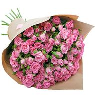 Bouquet of bush roses in paper - flowers and bouquets on roza.pl.ua