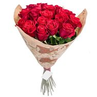 Imported roses in paper - flowers and bouquets on roza.pl.ua