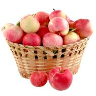 Basket of apples - flowers and bouquets on roza.pl.ua