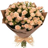 Cream bush roses in kraft - flowers and bouquets on roza.pl.ua