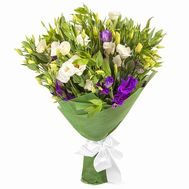 Buy eustoma in bouquet - flowers and bouquets on roza.pl.ua
