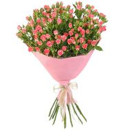 Lovely bouquet of pink roses spray - flowers and bouquets on roza.pl.ua
