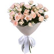 Mini bouquet of bush roses - flowers and bouquets on roza.pl.ua