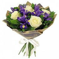 Невеликий букет із ірисами - цветы и букеты на roza.pl.ua