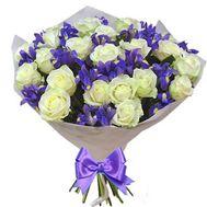 Прекрасный букет с ирисами - цветы и букеты на roza.pl.ua