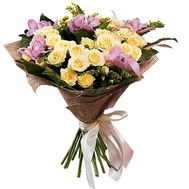 Lovely bouquet with orchids - flowers and bouquets on roza.pl.ua