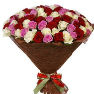 Chic bouquet of 101 roses - flowers and bouquets on roza.pl.ua
