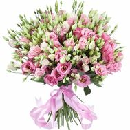 A chic bouquet of 51 eustomos - flowers and bouquets on roza.pl.ua
