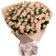 A magnificent bouquet of bush roses - flowers and bouquets on roza.pl.ua