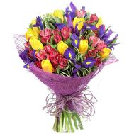 Веселый весенний букет - цветы и букеты на roza.pl.ua