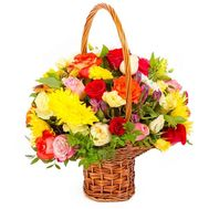 Bright flower basket - flowers and bouquets on roza.pl.ua