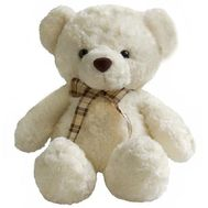 Light Teddy Bear - flowers and bouquets on roza.pl.ua
