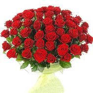 Bouquet of 65 red roses - flowers and bouquets on roza.pl.ua