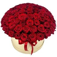 101 red rose in a box - flowers and bouquets on roza.pl.ua