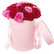 Bouquet of roses in a box - flowers and bouquets on roza.pl.ua