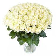 VIP bouquet of 101 white roses - flowers and bouquets on roza.pl.ua