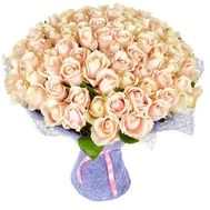 VIP bouquet 101 cream-colored roses - flowers and bouquets on roza.pl.ua