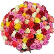 Bouquet of 101 roses - flowers and bouquets on roza.pl.ua