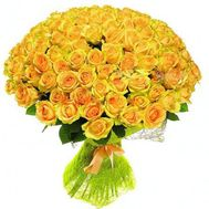 VIP bouquet 101 yellow roses - flowers and bouquets on roza.pl.ua