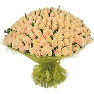 VIP букет из 201 кремовой розы - цветы и букеты на roza.pl.ua
