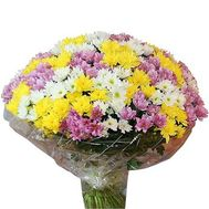 Bouquet of 51 multi-colored chrysanthemums - flowers and bouquets on roza.pl.ua