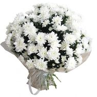 Bouquet of 21 white chrysanthemums - flowers and bouquets on roza.pl.ua