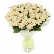 Букет из 51 белой розы - цветы и букеты на roza.pl.ua