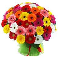 Bouquet of 51 gerberas - flowers and bouquets on roza.pl.ua
