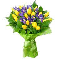 Букет із 8 ірисів і 19 тюльпанів - цветы и букеты на roza.pl.ua