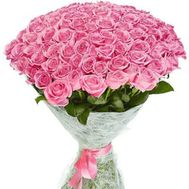 VIP bouquet 101 pink rose - flowers and bouquets on roza.pl.ua