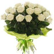 Bouquet of 21 white roses - flowers and bouquets on roza.pl.ua