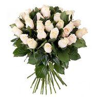 Букет из 31 кремовой розы - цветы и букеты на roza.pl.ua