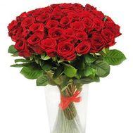 Букет из 51 розы - цветы и букеты на roza.pl.ua