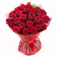 Букет из 31 красной розы - цветы и букеты на roza.pl.ua