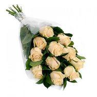 Букет из 11 кремовых роз - цветы и букеты на roza.pl.ua
