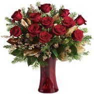 Букет из 15 красных роз - цветы и букеты на roza.pl.ua