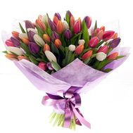 Bouquet of 55 Tulips - flowers and bouquets on roza.pl.ua
