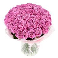 Bouquet of 55 pink roses - flowers and bouquets on roza.pl.ua