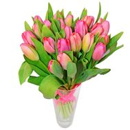 Bouquet of 21 tulips - flowers and bouquets on roza.pl.ua