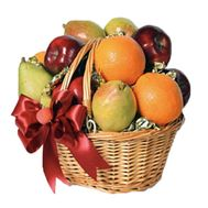 Basket with apples, pears, oranges - flowers and bouquets on roza.pl.ua