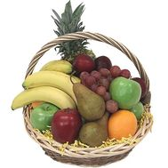 Basket of various fruits - flowers and bouquets on roza.pl.ua