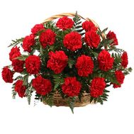 Basket of 45 carnations - flowers and bouquets on roza.pl.ua